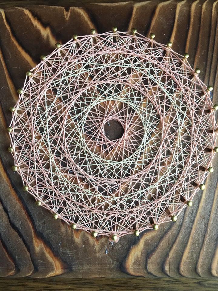 柳町さん 曼荼羅作品スペイン麻×正藍×紅花